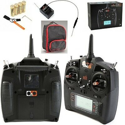 Spektrum Dx6 6Ch Dsmx Transmitter W Radio Bag   Case   Ar610 Receiver Spm6700