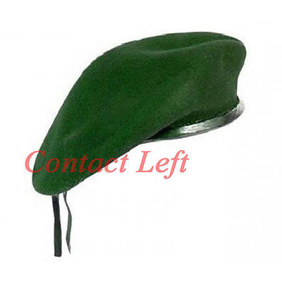 Neu Wolle Herren Damen Grün Beret Hut Kappe Armee Militär - Mode Kostüm - Militär Kostüm Weiblich