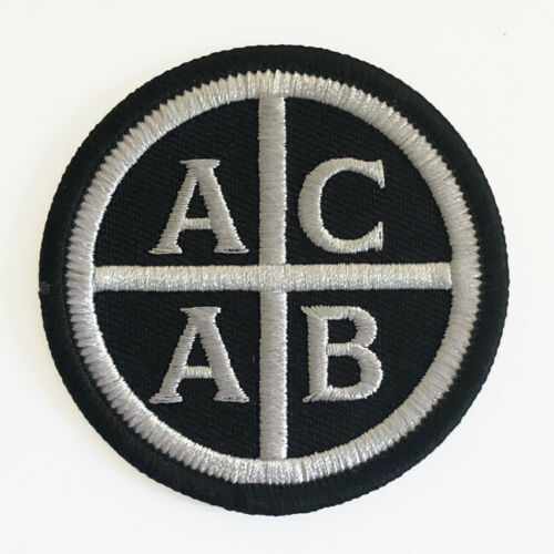 Embroidered ACAB Patch Iron On style by Seven 13 Productions FTP