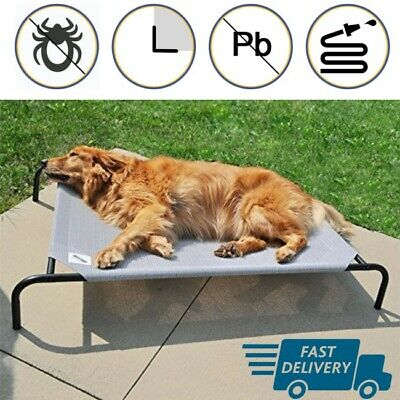 Large Outdoor Dog Bed Pad Pet Waterproof Raised Sleeping Resting Couch Lounger
