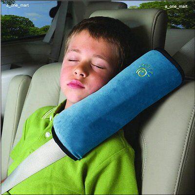 Sicherheits-Gurtpolster Autogurtpolster Schulterpolster kind Schlafkissen Blau