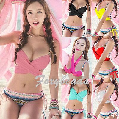 HOT SUMMER Sexy Women Bandage Bikini Set Push-up Padded Bra Swimsuit Swimwear