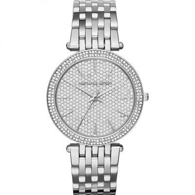 BRAND NEW Michael Kors Darci Silver Crystal Pave Womens Watch MK3437