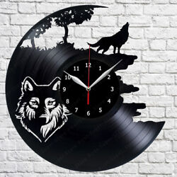 Wolf Vinyl Record Wall Clock Decor Art Home 12'' (30cm) 250