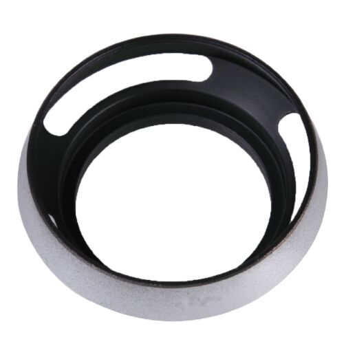 ,Fits for Leica 49mm Lens and Any Standard Lens with 49mm Filter Size Black Happyshopping Lens Hood 49mm Metal Vented Lens Hood for Leica