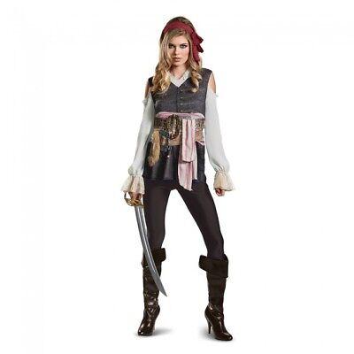 Disguise PoTC5 Captain Jack Sparrow Female Adult Womens Halloween Costume 22921