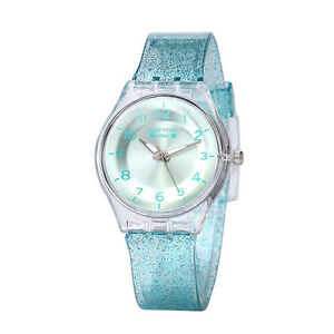 Newyork-Army-Turquiose-Transparent-Shimmer-Women-039-s-Watch-NYA1313-No-Box