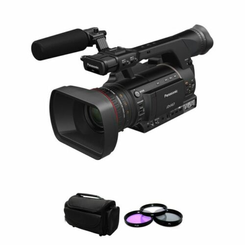 Panasonic Ag-hpx250 P2 Hd Hand-held Camcorder + 3pc Filter Kit & Case