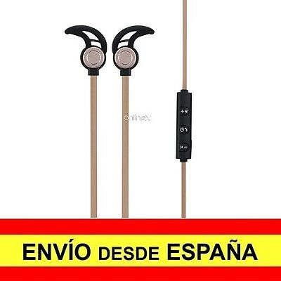 Auricular Inalámbrico AMW-810S Manos Libres Deportivos Color Negro-Dorado a2735