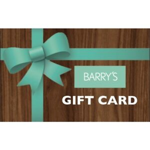 Barry's gift card