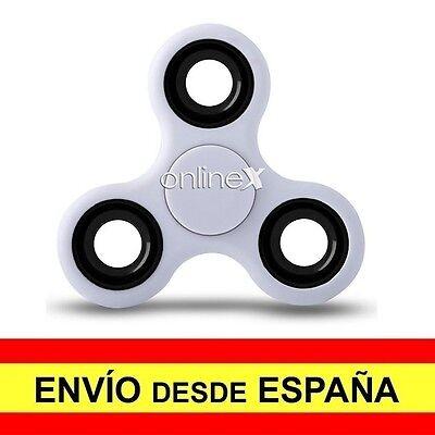 Peonza Dedos SPINNER Fidget Juguete Entretenimiento Antiestres Blanco a2720