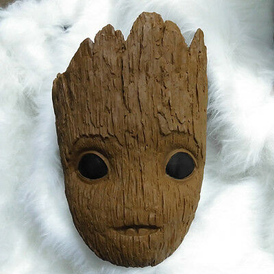 US! Avengers 1:1 Baby Groot Mask Adult Halloween Cosplay Helmet Costume - Groot Halloween Costume Baby