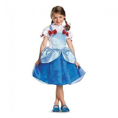 Girls Dorothy Costume Blue Gingham Fancy Dress Halloween Toddler Child Kids S M - Dorothy Costume Child