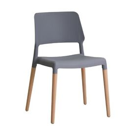 LPD Riva Grey Chairs (Box of 2), (Ref: 090324)