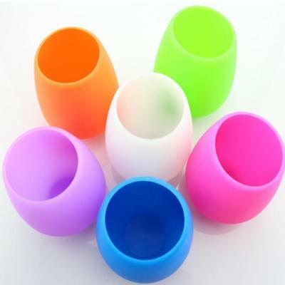Unbreakable Silicone Wine Glass Rubber Beer Mug Stemless Outdoor Cup Jian