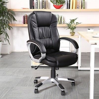 Executive Office Chair Big Tall Pu Leather High Back Manager Desk Chairs Padded