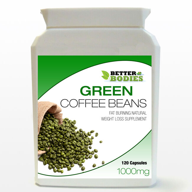 1000mg Pure Green Coffee Bean Extract Capsules Bottle Diet Weight Loss Slimming Ebay
