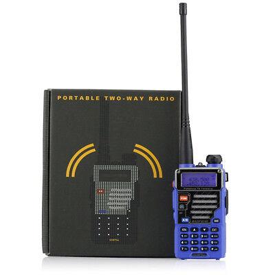 DE Blau BaoFeng UV-5R Plus Qualette UHF/VHF PMR Radio Funkgerät Walkie Talkie