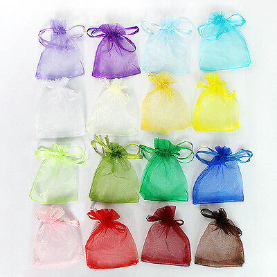 16 Colors Beautiful Organza Jewelry Wedding Gift Pouch Bags New 7x9cm 2.7x3.5