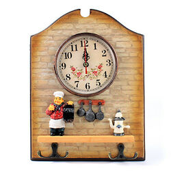Unique Large Cook Chef Shape Wall Clock Home Hook Decor Decoration Home New