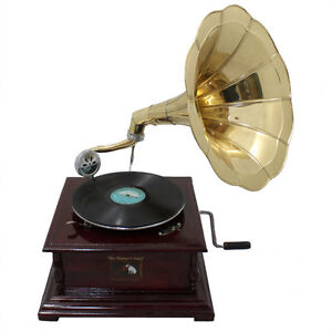 Gramophone/Record Player 78 vinyl Phonograph (square)