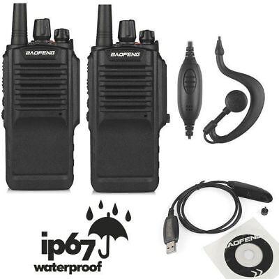 Us 2X Baofeng Bf 9700 Uhf 16Ch 1800Mah Two Way Radio Waterproof Ip67   Usb Cable