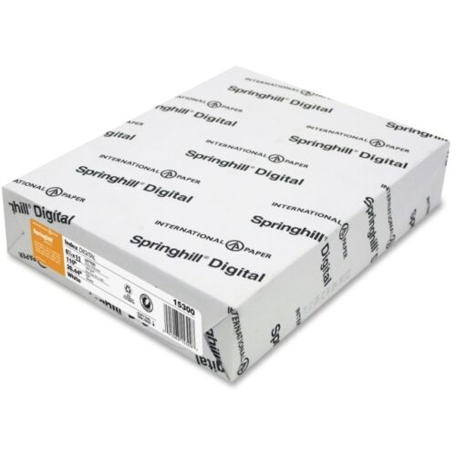 Springhill Digital Index White Card Stock, 110 lbs., 8-1/2 x 11, 250 Sheets/Pack