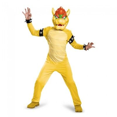 Mario Bowser Halloween-kostüme (Disguise Super Mario Bros Bowser Deluxe Child Boys Halloween Costume 85147)
