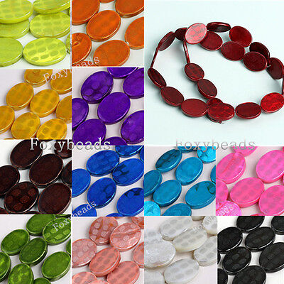 Colorful Mother Of Pearl Shell Oval Spot Loose Bead 13*18mm Finding DIY - Drop Mother Of Pearl Necklace