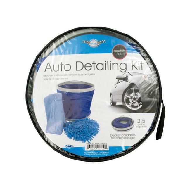 Bulk Buys OF503-1 Car Wash Kit with Collapsible Bucket