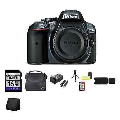 Nikon D5300 Digital SLR Camera (Body) - Gray 16GB Package