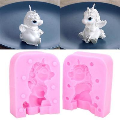 3D Horse Unicorn Silicone Mold Candle Shaped Convenient Soap Mould Baking Tool L
