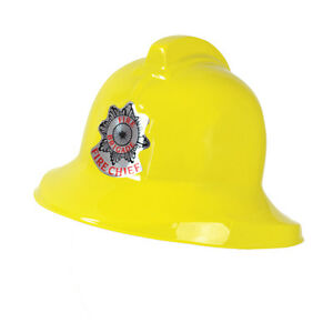 Fireman Helmet Firewoman Firefighter Adult Fancy Dress Costume Chief Hat