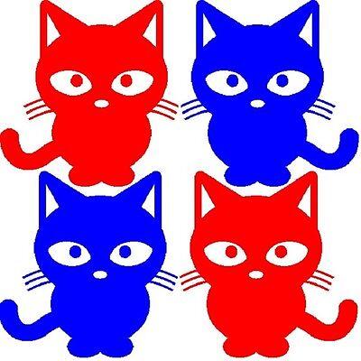 30 Custom Patriotic Cat Art Personalized Address Labels