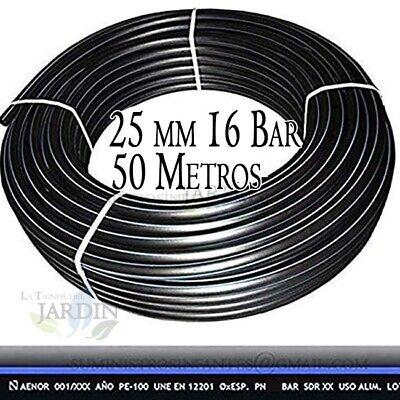 Pipe Polyethylene Food 25MM High Density 16 BAR 50 Metres Tube Irrigation