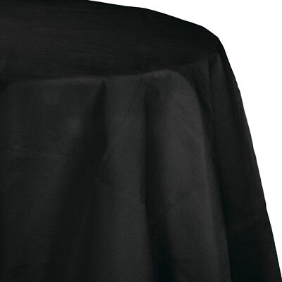 Black Paper Tablecloths (Black 2/Ply Paper-Poly Round Tablecloth)