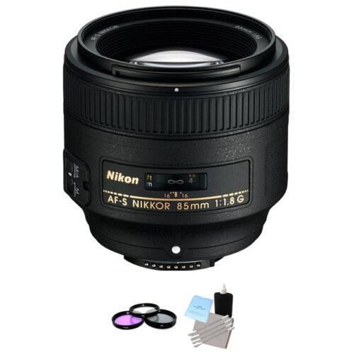 Nikon AF-S NIKKOR 85mm f/1.8G Lens + UV Kit & Cleaning Kit