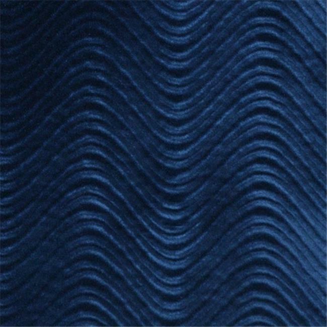 Designer Fabrics C845 54 in. Wide Blue Classic Velvet Swirl Automotive Reside...