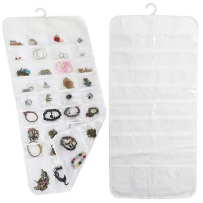 72 Pockets 2 Side Display Hanging Jewelry Earring Organizer Storage Bag - DD - Side Hanging Display