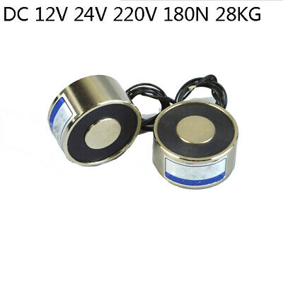 New Lift Electric Holding Dc 12v 24v 220v 28kg Lifting Magnet Electromagnet
