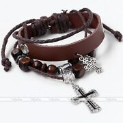 Wood Cross Bracelet