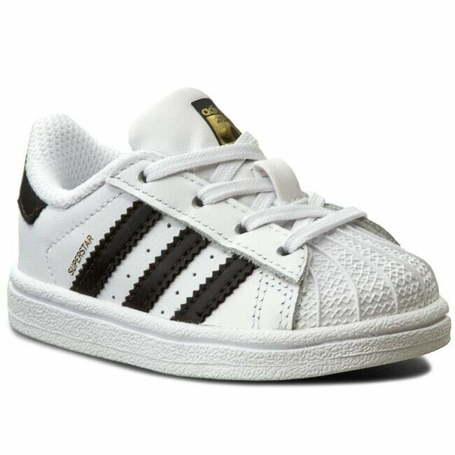 Adidas Originals Toddler's Super Star Shoes NEW AUTHENTIC White/Black BB9076