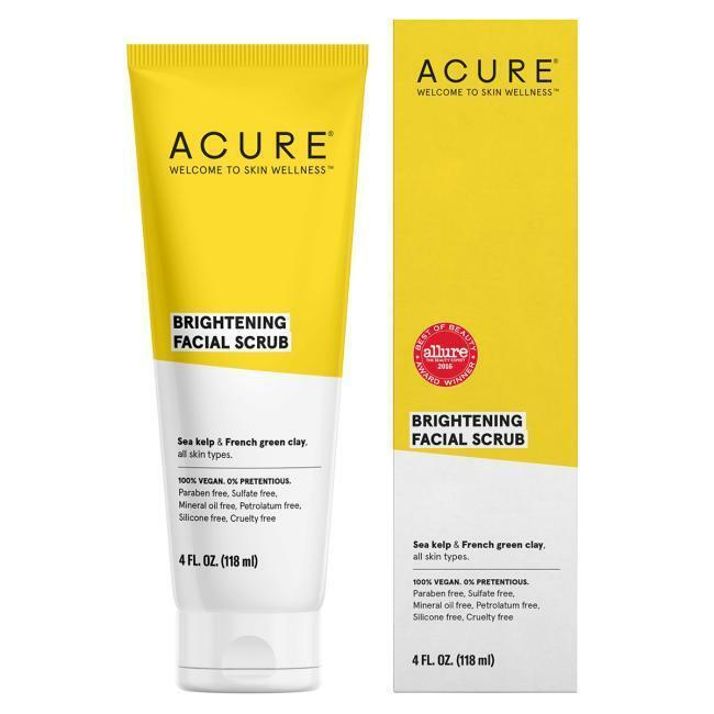 Acure Brightening Facial Scrub 4 fl oz Scrub