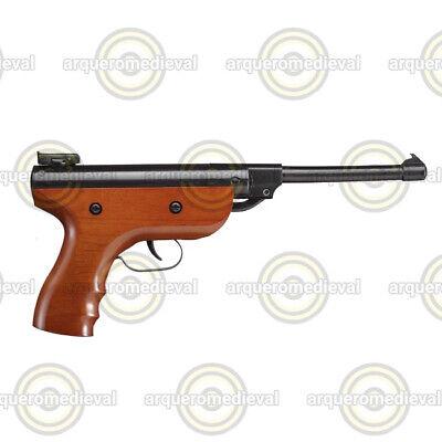 Pistola Zasdar S2 muelle grip madera cal. 4,5 mm Balines.