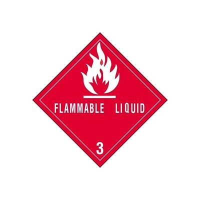 Thorntons Labels Flammable Liquids - 3 4 X 4 Redwhite 500roll