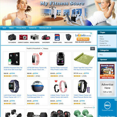 Fitness Store - Professionally Designed Affiliate Business Website For Sale