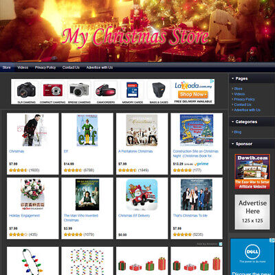 Christmas Store - Fully Automated Functional Affiliate Online Website For Sale