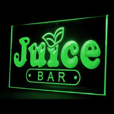 - 110034 OPEN Juice Bar Cafe Restaurant Fruit Apple Orange Peaches LED Light Sign