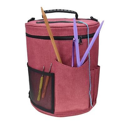 Knitting Crochet Bag Yarn Accessories Storage Organizer Holder Tote Carry Kit (Bag Knitting Kit)
