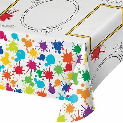 Art Party Supplies (Art Party Activity Plastic Banquet Tablecloth 54